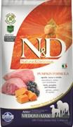 Farmina - Беззерновой корм для взрослых собак средних и крупных пород (ягненок с черникой и тыква) N&D Pumpkin lamb & blueberry adult medium & maxi dog