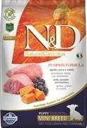 Farmina - Беззерновой корм для щенков мелких пород (ягненок с черникой и тыква) N&D Pumpkin lamb & blueberry puppy mini dog