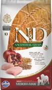 Farmina - Низкозерновой корм для взрослых собак средних и крупных пород (курица с гранатом) N&D Low Grain Chicken&Pomegrante Adult MEDIUM&MAXI