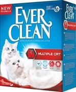 Ever Clean - Комкующийся наполнитель для кошек (красная полоса) Multiple Cat