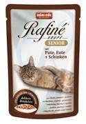Animonda - Паучи для кошек старше 7 лет (с индейкой, уткой и ветчиной) Rafine Soupe Senior