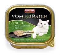 """Animonda - Консервы для взрослых кошек """"Меню для гурманов""""  (с говядиной, филе лосося и шпинатом) Vom Feinsten Adult"""