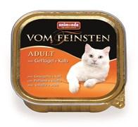 Animonda - Консервы для взрослых кошек (с домашней птицей и телятной) Vom Feinsten Adult