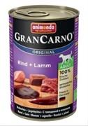 Animonda - Консервы  для взрослых собак (с говядиной и ягнёнком) GranCarno Original Adult