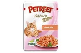 Petreet - Паучи для кошек (лосось) Natura 100%