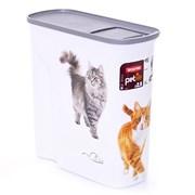 """Curver PetLife - Контейнер для корма """"Кошкина радость"""", большой, на 6 л, 28*12*28 см"""