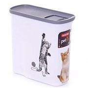 """Curver PetLife - Контейнер для корма """"Кошкина радость"""", малый, на 2 л, 20*9*19 см"""