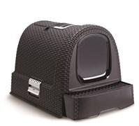 Curver PetLife - Туалет-домик для кошек, темно-серый, 51*39*40см