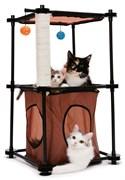 """Kitty City - Игровой комплекс с когтеточкой для кошек Биг Бен """"Tower"""", 79*45*45см"""