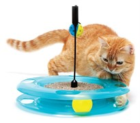 "Kitty City - Игрушка для кошек Поле Чудес ""Swat Track & Scratcher"", 31*31*6см"