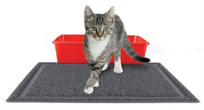 Kitty City - Коврик для туалета Medium Rubber Litter Mat, 40 x 50 x 0.7 см