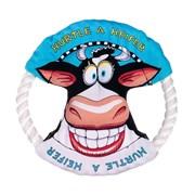 Kitty City - Малое летающее кольцо «Бодрая корова» FATCAT Mini Dog Toy Ring