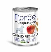 Monge - Консервы для собак (паштет из кролика с рисом и яблоками) Dog Monoproteico Fruits
