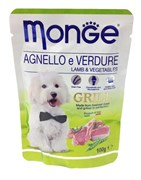 Monge - Паучи для собак (ягненок с овощами) Dog Grill Pouch