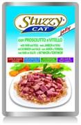 Stuzzy - Паучи для кошек (с ветчиной и телятиной в желе)