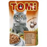 Tomi - Паучи для кошек (гусь с печенью)