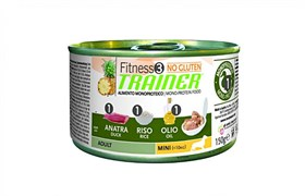 Trainer - Консервы для взрослых собак мелких пород (с уткой и рисом) Fitness No Gluten Mini Adult Duck and Rice