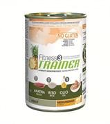 Trainer - Консервы для взрослых собак средних и крупных пород (с уткой и рисом) Fitness No Gluten Medium/Maxi Adult Duck and Rice