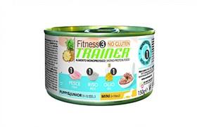 Trainer консервы для щенков и юниоров мелких пород с рыбой и рисом Fitness No Gluten Mini Puppy&Junior Fish and Rice