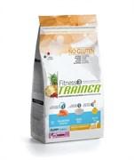 Trainer - Сухой корм для щенков средних и крупных пород (с лососем и рисом) Fitness No Gluten Medium/Maxi Puppy Salmon and Rice