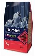 Monge - Сухой корм для щенков всех пород (оленина) Bwild Dog Deer