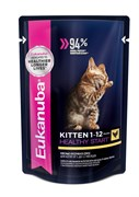 Eukanuba - паучи для котят (с курицей в соусе) Kitten Healthy Star with Chicken