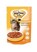 Мнямс - Паучи для взрослых кошек в соусе, идеальный баланс (курица)