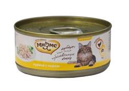 Мнямс - Консервы для кошек (курица с сыром в нежном желе)