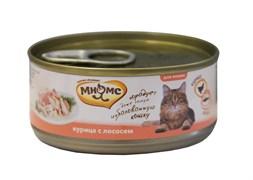 Мнямс - Консервы для кошек (курица с лососем в нежном желе)