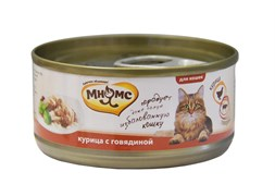 Мнямс - Консервы для кошек (курица с говядиной в нежном желе)