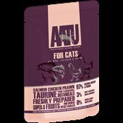 AATU - Паучи для кошек (с лососем, курицей и креветками) SALMON, CHICKEN & PRAWN