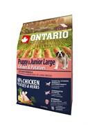 Ontario - Сухой корм для щенков крупных пород (с курицей и картофелем) Puppy & Junior Large Chicken & Potatoes