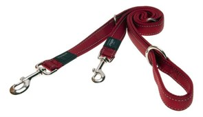 Rogz - Поводок-перестежка, красный (размер S - ширина 1,1 см, длина 1,1-1,3-1,8 м) UTILITY MULTI PURPOSE LEAD
