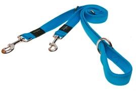 Rogz - Поводок-перестежка, голубой (размер S - ширина 1,1 см, длина 1,1-1,3-1,8 м) UTILITY MULTI PURPOSE LEAD