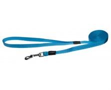 Rogz - Удлиненный поводок, голубой (размер L - ширина 2 см, длина 1,8 м) UTILITY FIXED LONG LEAD
