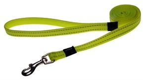 Rogz - Удлиненный поводок, желтый (размер M - ширина 1,6 см, длина 1,8 м) UTILITY FIXED LONG LEAD