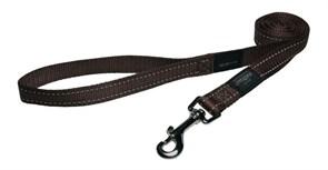 Rogz - Удлиненный поводок, шоколадный (размер M - ширина 1,6 см, длина 1,8 м) UTILITY FIXED LONG LEAD