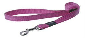 Rogz - Удлиненный поводок, розовый (размер M - ширина 1,6 см, длина 1,8 м) UTILITY FIXED LONG LEAD
