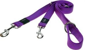 Rogz - Поводок-перестежка, фиолетовый (размер M - ширина 1,6 см, длина 1-1,3-1,6 м) UTILITY MULTI PURPOSE LEAD