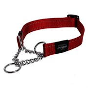Rogz - Полуудавка строгая, красный (размер М (32-44 см), ширина 1,6 см) UTILITY OBEDIENCE HALF CHECK COLLAR
