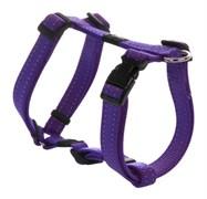 Rogz - Шлейка, фиолетовый (размер M (32-52 см), ширина 1,6 см) UTILITY H-HARNESS