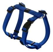 Rogz - Шлейка, синий (размер M (32-52 см), ширина 1,6 см) UTILITY H-HARNESS