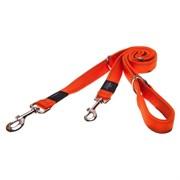 Rogz - Поводок-перестежка, оранжевый (размер XL - ширина 2,5 см, длина 1-1,3-1,6 м) UTILITY MULTI PURPOSE LEAD