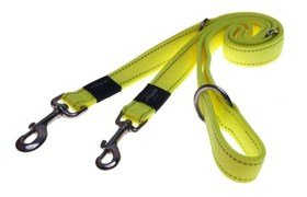 Rogz - Поводок-перестежка, желтый (размер XL - ширина 2,5 см, длина 1-1,3-1,6 м) UTILITY MULTI PURPOSE LEAD