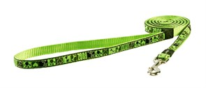 """Rogz - Поводок """"Лаймовый сок"""" (размер S - ширина 1,1 см, длина 1,8 м) FANCY DRESS FIXED LEAD"""
