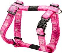 "Rogz - Шлейка ""Розовая лапка"" (размер S (23-37 см), ширина 1,1 см) FANCY DRESS H-HARNESS"