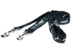"Rogz - Поводок-перестежка ""Черная косточка"" (размер M - ширина 1,6 см, длина 1,0-1,3-1,6 м) FANCY DRESS MULTI PURPOSE LEAD"