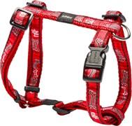 "Rogz - Шлейка ""Красные косточки"" (размер M (32-52 см), ширина 1,6 см) FANCY DRESS H-HARNESS"
