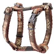 """Rogz - Шлейка """"Кофейные косточки"""" (размер M (32-52 см), ширина 1,6 см) FANCY DRESS H-HARNESS"""