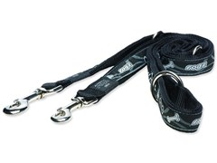 "Rogz - Поводок-перестежка ""Черная косточка"" (размер XL - ширина 2,5 см, длина 1,0-1,3-1,8 м) FANCY DRESS MULTI PURPOSE LEAD"